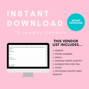 15 Jewelry Vendor List - Fashion Jewelry | Wholesale Jewelry, wholesale earrings, wholesale bracelets, wholesale rings, wholesale necklace