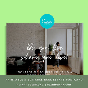Realtor post card Instant Download | realtor png, realtor post cards, realtor marketing, agent postcards, real estate agent marketing