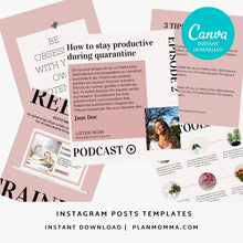 Load image into Gallery viewer, 10 Instagram Coaching Post Canva Templates - Instagram Posts, Instagram Coach Instagram template business, Social Media Templates, Marketing