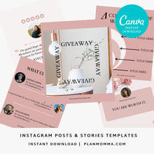 Load image into Gallery viewer, 10 Instagram Post & Stories Canva Templates -Instagram Posts, Instagram Coaching Instagram template business, Social Media Templates, Canva