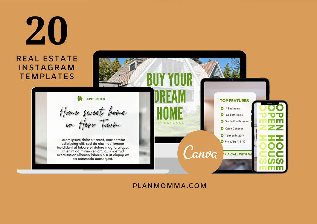 Editable Real Estate Instagram Template - Real Estate Agent Branding Posts, Modern Real Estate Design, Instagram Templates