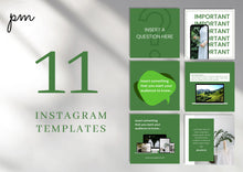 Load image into Gallery viewer, Social Media Templates for Instagram Engagement - Social Media Templates, Instagram Templates for Canva, Editable Instagram Templates