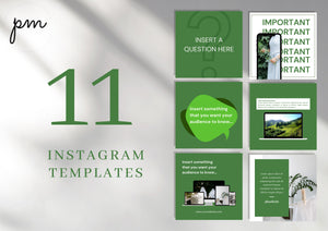 Social Media Templates for Instagram Engagement - Social Media Templates, Instagram Templates for Canva, Editable Instagram Templates