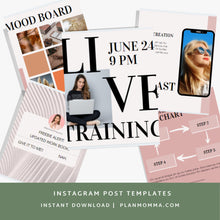 Load image into Gallery viewer, 20 Instagram Post Canva Templates - Instagram Posts, Instagram Templates, IG, Canva Template, Social Media Templates, Marketing, Canva