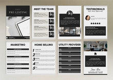 Load image into Gallery viewer, Black Real Estate Agent Kit - Email Template, Pre-listing Guide, Real Estate Guide, Real Estate Agent Facebook Cover, MLS Listing Banner