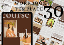 Load image into Gallery viewer, 30 Canva Workbook Templates - Minimalist Ebook & Workbook for Fashion Bloggers, Writers and Coaches, Canva Template