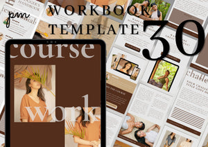 30 Canva Workbook Templates - Minimalist Ebook & Workbook for Fashion Bloggers, Writers and Coaches, Canva Template
