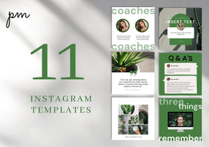 Social Media Marketing Templates for Instagram Booster - Social Media Templates, Instagram Templates for Canva, Editable Instagram Templates
