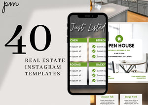 Real Estate Agent Kit-Modern Templates, Business Card, Instagram Template, Real Estate Watermark, Real Estate Flyer, Sales Process Checklist