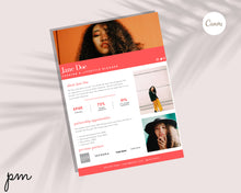 Load image into Gallery viewer, 8 Page Media Kit Template Bundle - Social Media Kit, Press Kit, Influencer Kit, Blogger, Influencer, Instagram Influencer, Branded Media Kit