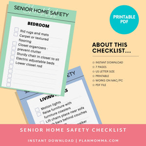 Senior caregiver checklist - Senior care, Elder assistance, Routine sheet, planner, Aging in place, elder care, assisted care, home support