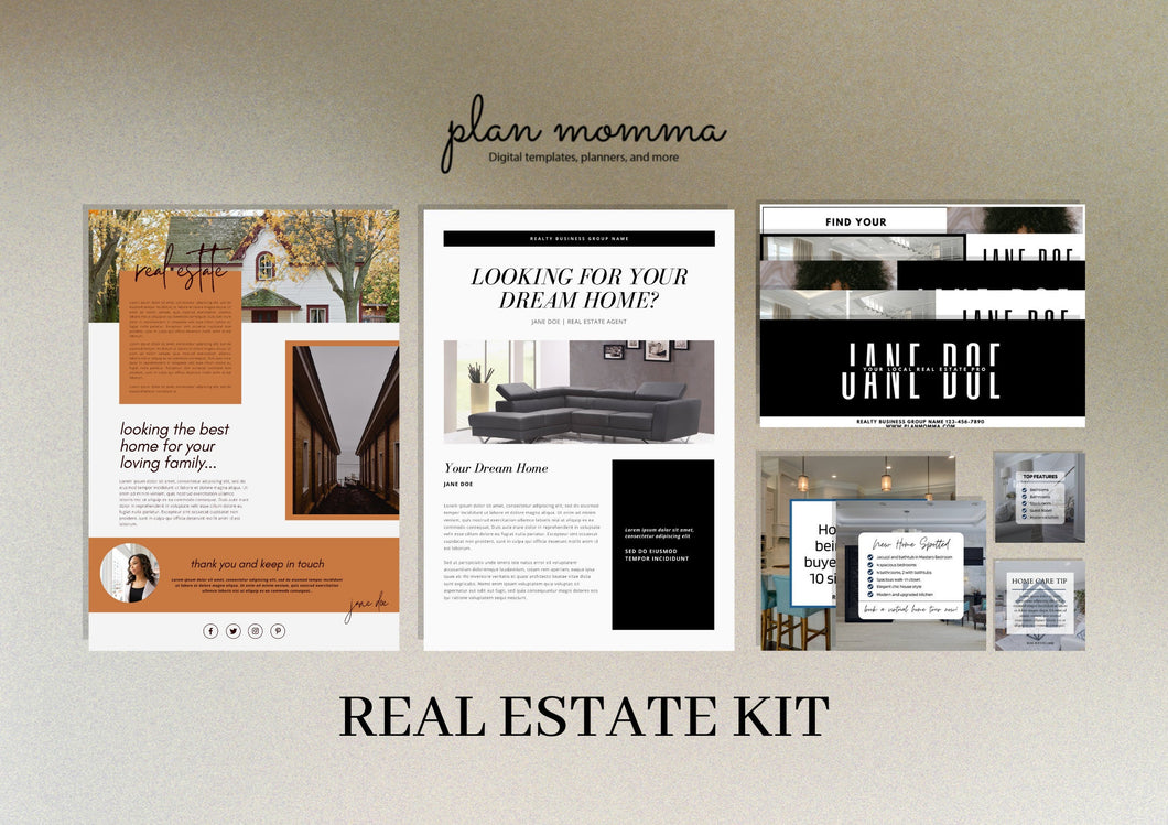Real Estate Marketing Kit - Real Estate Email Newsletter Fall, Email Template, Custom Email Header, Real Estate Instagram Template, Canva