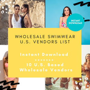 10 Swimwear Wholesale Vendor List - US Based ONLY | swimwear vendor list, wholesale swimsuits, wholesale bathing suits, wholesale bikini