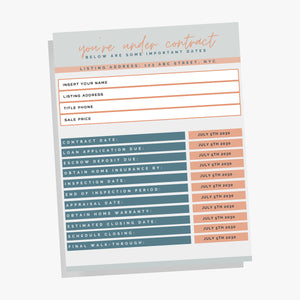 Real Estate Agent Important Dates Bundle, Important Dates Template, Real Estate Marketing, Realtor, Printable Real Estate Template, Canva