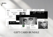 Load image into Gallery viewer, Printable Gift Certificate Bundle - Instant Download, Voucher Template, Gift Card, Business Gift Certificate, Printable Gift Card