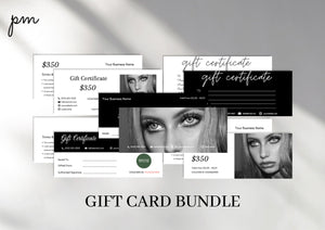 Printable Gift Certificate Bundle - Instant Download, Voucher Template, Gift Card, Business Gift Certificate, Printable Gift Card