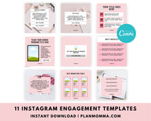 Load image into Gallery viewer, Engagement Editable Instagram Templates - Instagram Canva Templates, Engagement Booster Templates, Instagram Post Templates - Notification