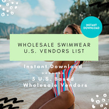 Load image into Gallery viewer, 5 Swimwear Vendor List Wholesale - US Based ONLY | boutique vendor, wholesale vendor, wholesale swimsuits, wholesale bikini, bathing suit