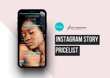 Load image into Gallery viewer, Price list Instagram Hair Makeup Extensions | Instagram Price List | Instagram Story | Price List Template | Beauty Price List Template