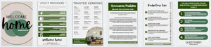 Home Owner Welcome Packet Template - Welcome guide, Real estate marketing, Real Estate Flyer, New Homeowner, Instant Download, Canva, PDF