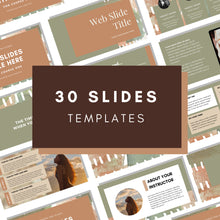 Load image into Gallery viewer, Canva Webinar Slide Deck Template, Slide Deck Presentation, Course Slide Deck Template, Course Webinar Template, Masterclass Template, Canva