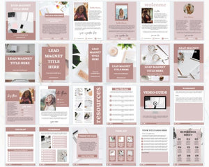Social Media Kit for Coaches - 365 Social Media Content Planner, Lead Magnet Templates, Social Media Planner, Instagram Posts Templates