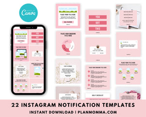 22 Instagram Engagement Booster Post Canva Templates - Notification Marketing Graphics, Social Media Templates, Engagement Templates