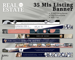 35 MLS Banner Template - Banner Template, Banner for Realtors, Real Estate Banner, Website Banner, Advertisement Banner, Web banner, Canva