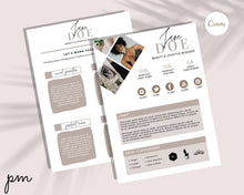Load image into Gallery viewer, Media Kit Canva Template - Influencer Media Kit Bundle, Editable Media Kit, Pitch Kit, Social Media Kit, Press Kit, Blogger Kit, Branding