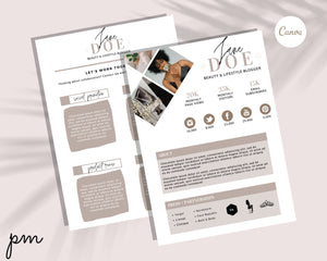 Media Kit Canva Template - Influencer Media Kit Bundle, Editable Media Kit, Pitch Kit, Social Media Kit, Press Kit, Blogger Kit, Branding