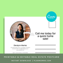Load image into Gallery viewer, Post Cards Realtor - Instant Download | Seller agent template, realtor canva template, postcard template, real estate agent mailer