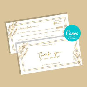 Thank you cards business template printable PDF SVG | Canva Template Thank you for your order | Thank you package inserts | Customer thank