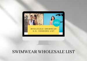 Swimsuit business kit - Swimwear Wholesale Vendor List, Business Plan, Engagement Booster Instagram Template, Instagram Story Pricelist