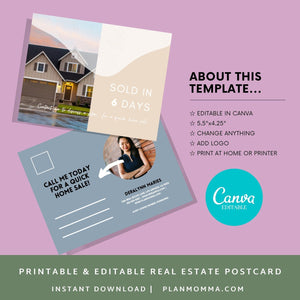 Real Estate Postcards, Just sold postcards, buyer postcards, Realtor tools, Real estate marketing, Realtor postcards, agent postcards