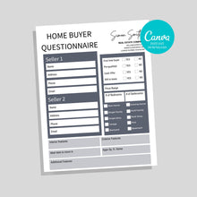 Load image into Gallery viewer, Home Buyer Checklist - Real Estate Flyer, Realtor Template, Real Estate Form, Canva Realtor Template, Real Estate Tool, Print Ready, PDF