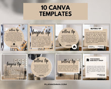 Load image into Gallery viewer, 10 Instagram Templates for Buyer & Seller Tips - Real Estate, Instagram Posts, Template Bundle for Instagram, Marketing, Canva