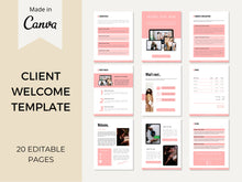 Load image into Gallery viewer, Client Welcome Packet Template, Proposal Template, Virtual Assistant Welcome Packet, Client Onboarding Template, New Client Service Guide