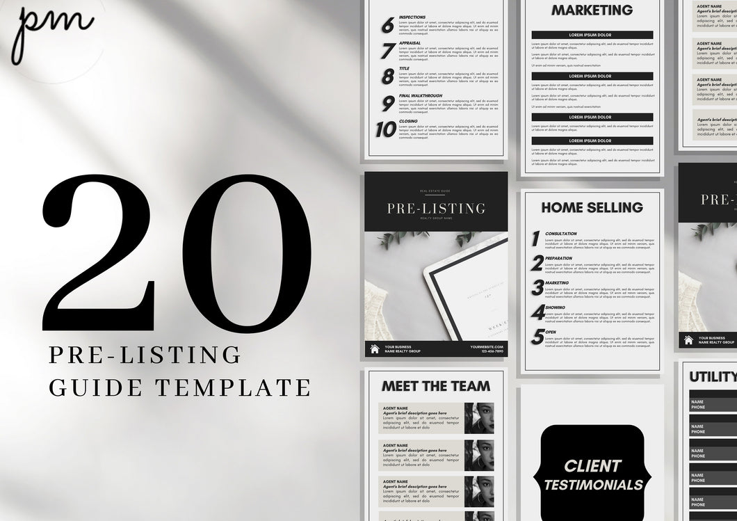 Real Estate Pre-Listing Guide, Instant download, Real Estate Marketing, Realtor Pre-Listing Packet, Realtor Tools, Editable Canva