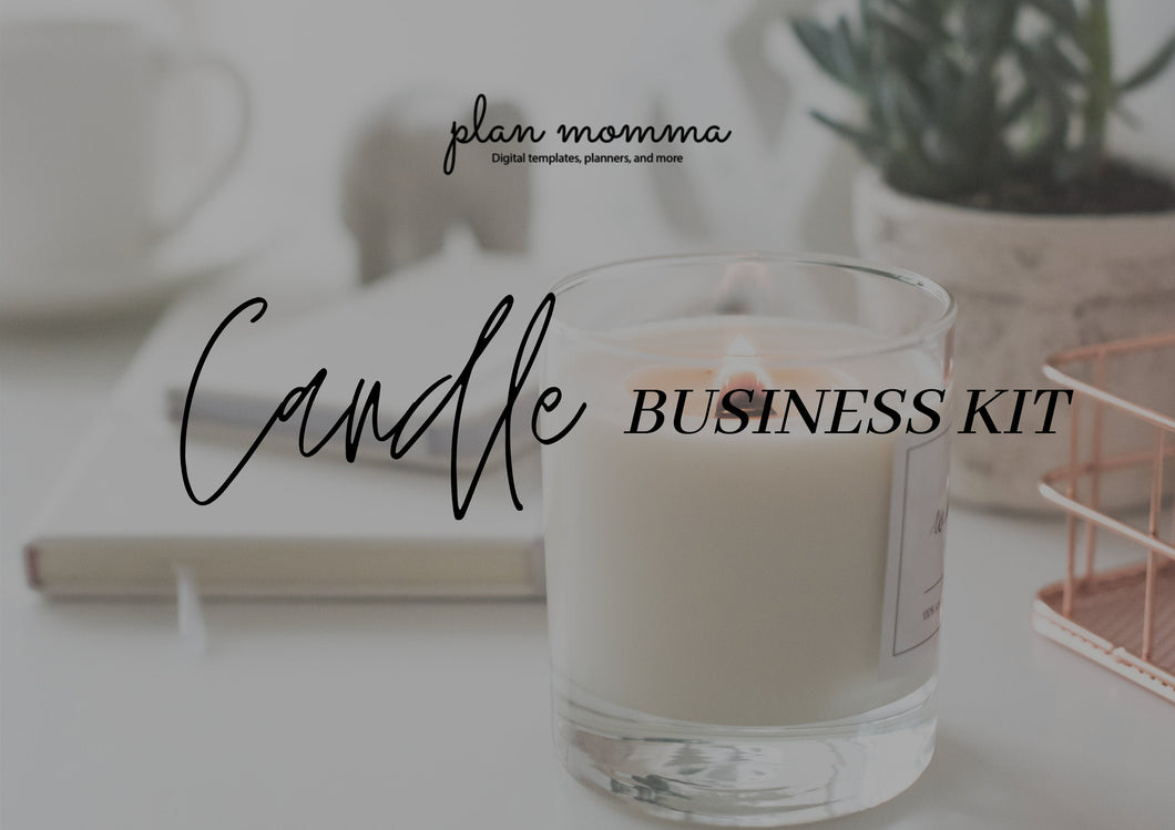 Candle Business Kit - Candle Printable Label, US Sales Tax License, Wholesale Candle Vendor List, Business Planner, New Business 2021