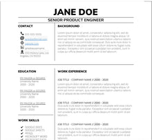 Load image into Gallery viewer, One Page Resume Template - Instant Download, Resume Template, Resume Word, Resume Google Docs, Pages Resume, Modern Resume, Simple Resume