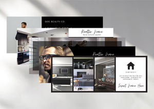 30 Real Estate Agent Facebook Cover Bundle, Real Estate Banner Photo Header, Canva Realtor Marketing Graphics, Editable Branding