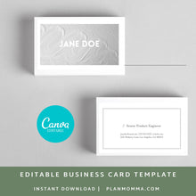 Load image into Gallery viewer, Diy business card | Instant Download - Canva Business Card, Business card template, Editable business card, printable business card
