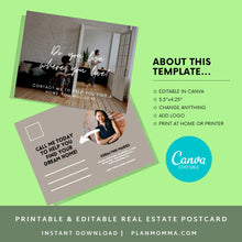 Load image into Gallery viewer, Realtor post card Instant Download | realtor png, realtor post cards, realtor marketing, agent postcards, real estate agent marketing