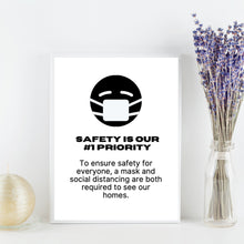 Load image into Gallery viewer, Wear A Mask Sign - Printable | open house tour, home tour flyer, open house agent, open house realtor, real estate open, coronavirus realtor