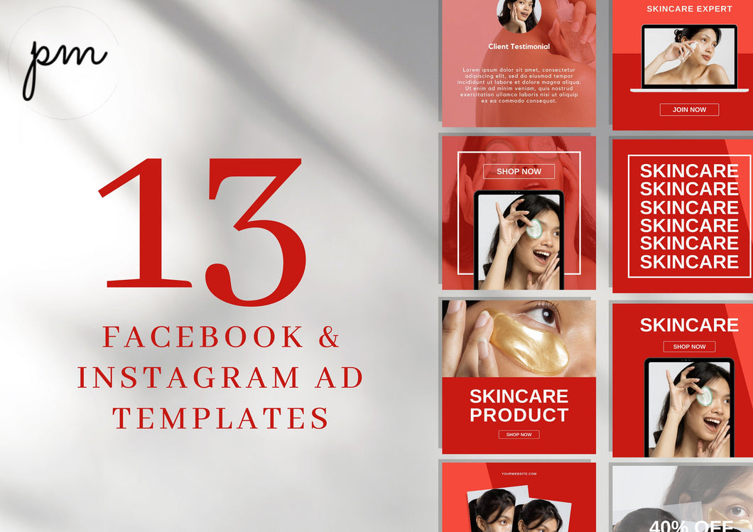 Instagram Ad Templates, Marketing Graphic Post for Social Media, Customizable Sales Design Photo for Bloggers