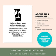 Load image into Gallery viewer, Maintain Social Distance sign | printable real estate sign, realtor sign, open house sign, open house tour, social distance sign, canva