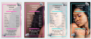 Price list Instagram Hair Makeup Extensions | Instagram Price List | Instagram Story | Price List Template | Beauty Price List Template