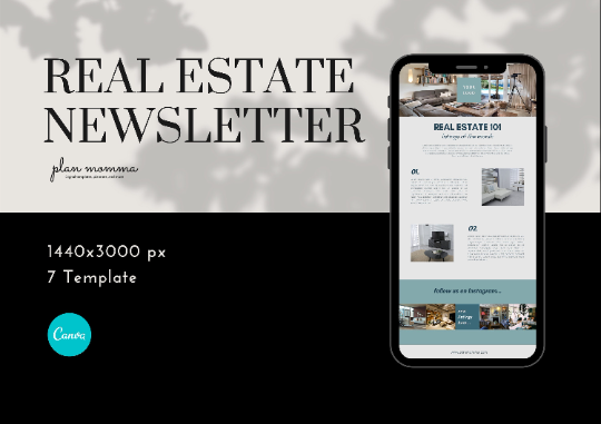 Real Estate Email Newsletter Templates - Realtor Email Marketing, Newsletter Template, Mailchimp Newsletter, Canva Templates, Email Template