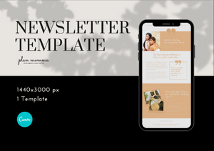 Lifestyle Mailchimp Newsletter Template - Email Marketing, Newsletter Templates, Email Newsletter, Canva Templates, Email Template