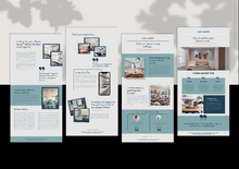 Load image into Gallery viewer, 7 Newsletter Template - Real Estate, Realtor Newsletter, Real Estate Marketing, Canva Templates, Editable Templates, Instant Download